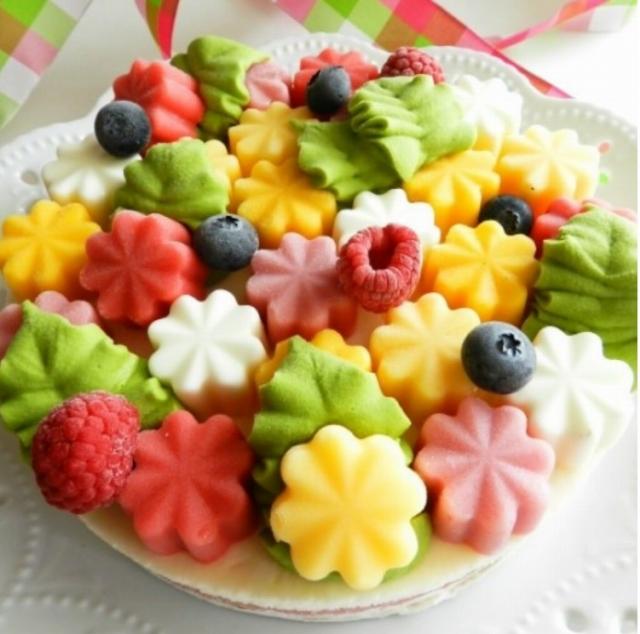可愛いアイスケーキ
