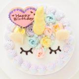 パステルカラーのケーキ